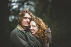 Emily & Russell – a very windy Yorkshire pre wedding shoot